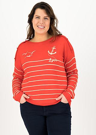 seaside cottage sweater, sailors love, Pullover & leichte Jacken, Orange