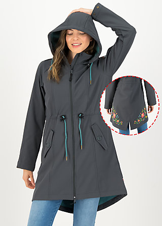 Soft Shell Coat swallowtail lightweight, anthracite, Jackets & Coats, Grey