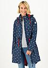 Soft Shell Coat swallowtail lightweight, anchor hope love, Jackets & Coats, Blue
