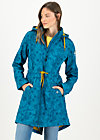 Soft Shell Coat swallowtail lightweight, tropical shades, Jackets & Coats, Turquoise