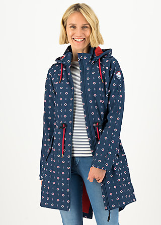 Soft Shell Coat swallowtail lightweight, anchor hope love, Jackets & Coats, Blue