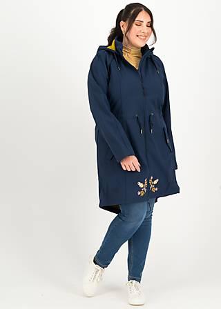 Softshelljacket swallowtail promenade, big mama, Jackets & Coats, Blue