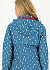Soft Shell Coat swallowtail promenade, baltic sea drops, Jackets & Coats, Blue