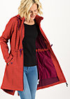 Soft Shell Coat swallowtail promenade, red stars, Jackets & Coats, Red