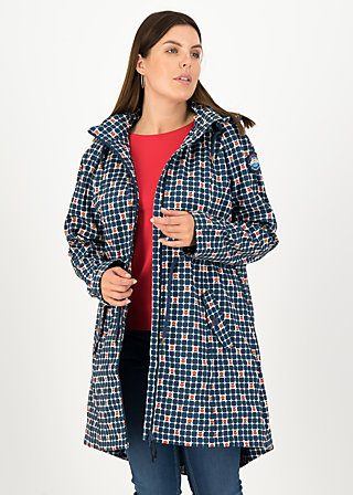 Soft Shell Coat swallowtail promenade, apple turnover, Jackets & Coats, Blue