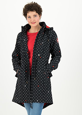 Soft Shell Coat swallowtail promenade, casual anchor, Jackets & Coats, Black