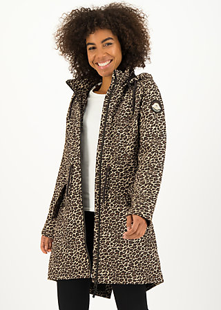 Soft Shell Coat swallowtail promenade, leo love, Jackets & Coats, Brown