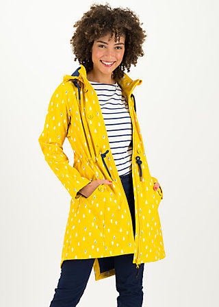 Soft Shell Coat swallowtail promenade, north sea drops, Jackets & Coats, Yellow