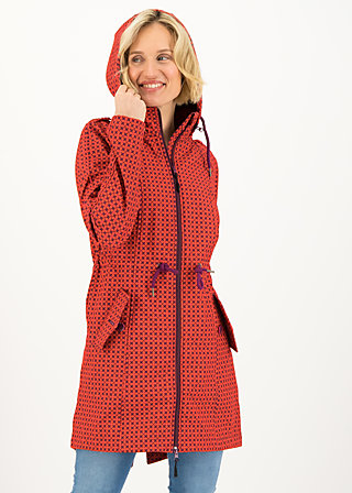 swallowtail promenade coat, red stars, Jackets & Coats, Red