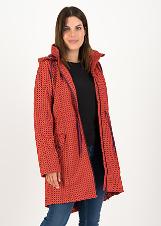 swallowtail promenade coat, red stars, Jacken & Mäntel, Rot