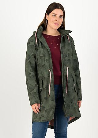 swallowtail promenade coat, whispering leaves, Jackets & Coats, Green