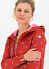 Fleece Jacket the beauty of the east, mon chérie pick me, Jackets & Coats, Red