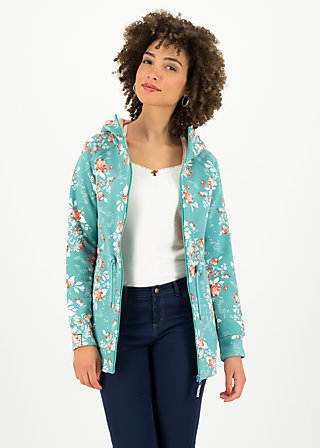 Fleece Jacket the beauty of the east, singing in the spring, Jackets & Coats, Turquoise