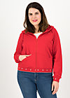 Sweatjacke vitamine beauté, go red go, Zipperjacken, Rot