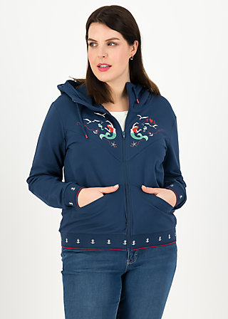 Sweatjacke vitamine beauté, blue denim, Zipperjacken, Blau