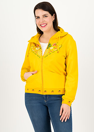 Sweatjacke vitamine beauté, corn yellow, Zipperjacken, Gelb