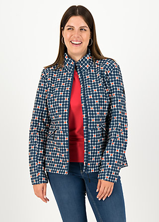 Soft Shell Jacket wanderlust turtle, apple turnover, Jackets & Coats, Blue