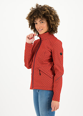 wanderlust turtle zip, red stars, Jackets & Coats, Red