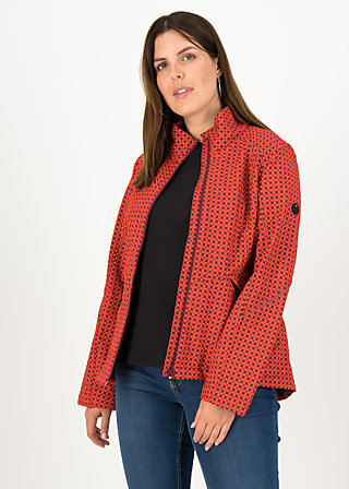 Soft Shell Jacket wanderlust turtle, red stars, Jackets & Coats, Red