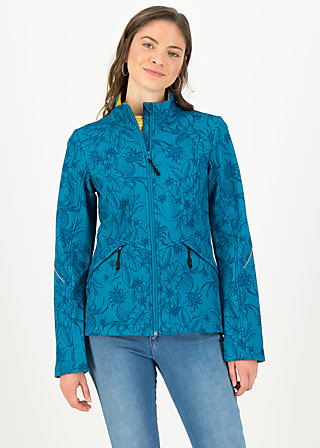 Soft Shell Jacket wanderlust turtle, tropical shades, Jackets & Coats, Turquoise