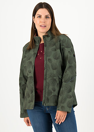 Soft Shell Jacket wanderlust turtle, whispering leaves, Jackets & Coats, Green