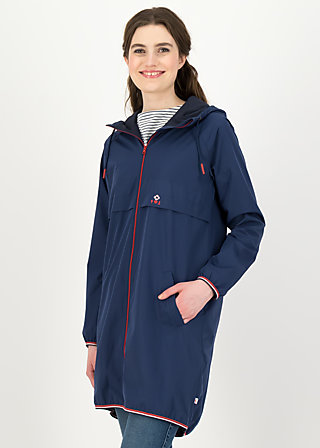 Windbreaker Wetterjacke windbraut long, deep blue, Jackets & Coats, Blue