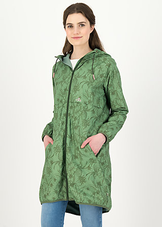 Windbreaker Wetterjacke windbraut long, shades of oliv, Jackets & Coats, Green