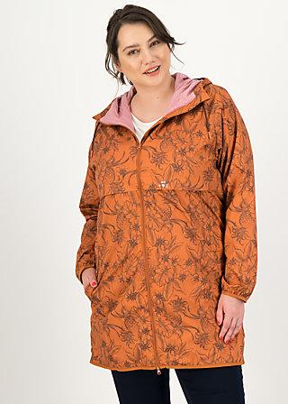 Windbreaker Wetterjacke windbraut long, shades of rust, Jackets & Coats, Brown