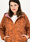 Windbreaker Wetterjacke windbraut short, shades of rust, Jackets & Coats, Brown