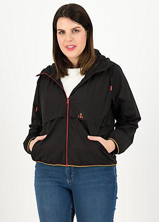 Windbreaker Wetterjacke windbraut short, deep black, Jackets & Coats, Black