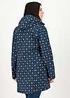 Soft Shell Parka wild weather long anorak, anchor hope love, Jackets & Coats, Blue