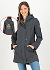 Soft Shell Parka wild weather long anorak, anthracite, Jackets & Coats, Grey