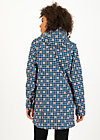 Softshell-Parka wild weather long anorak, apple turnover, Jacken & Mäntel, Blau