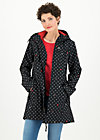 Soft Shell Parka wild weather long anorak, casual anchor, Jackets & Coats, Black