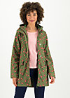 Softshell-Parka wild weather long anorak, forrest feeling, Jacken & Mäntel, Grün