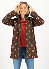 Soft Shell Parka wild weather long anorak, mushroom in the wood, Jackets & Coats, Brown
