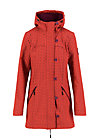 Softshell-Parka wild weather long anorak, red stars, Jacken & Mäntel, Rot