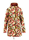 Softshell-Parka wild weather long anorak, rose tapestry, Jacken & Mäntel, Beige
