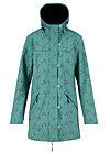 wild weather long anorak, summer swallow, Jackets & Coats, Turquoise