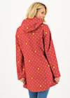 Softshell-Parka wild weather long anorak, wellington boots, Jacken & Mäntel, Rot