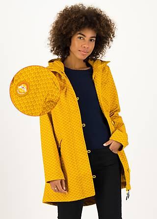 Softshelljacket wild weather long anorak, ahoi seashell, Jackets & Coats, Yellow