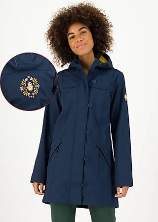 Soft Shell Parka wild weather long anorak, big mama, Jackets & Coats, Blue