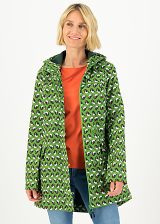 Soft Shell Parka wild weather long anorak, free as birds, Jackets & Coats, Green