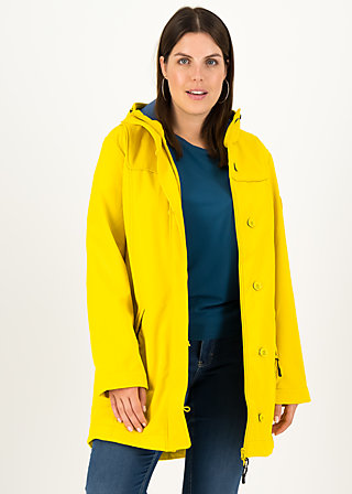 Soft Shell Parka wild weather long anorak, friesian breeze, Jackets & Coats, Yellow