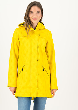 Soft Shell Parka wild weather long anorak, frisian romantic, Jackets & Coats, Yellow