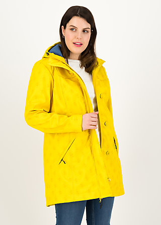 Softshell-Parka wild weather long anorak, frisian romantic, Jacken & Mäntel, Gelb