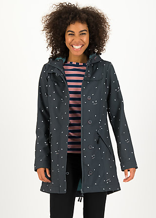 Softshell-Parka wild weather long anorak, kitty cat, Jacken & Mäntel, Grau