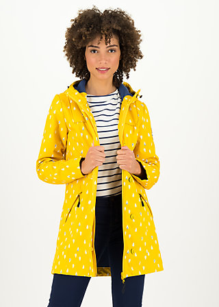 Soft Shell Parka wild weather long anorak, north sea drops, Jackets & Coats, Yellow