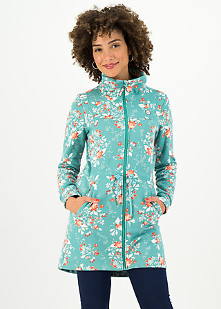 witch of the west longzip, singing in the spring, Jackets & Coats, Turquoise