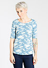 flieg dich frei tee, great glacial, Shirts, Blau